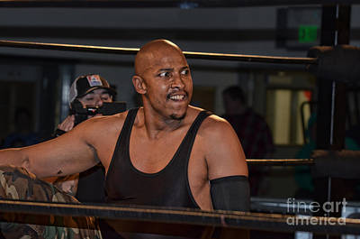 Portrait Photograph - Pro Wrestling Boyce Legrande Ready To Unleash His Fury by Jim Fitzpatrick