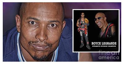 Digital Art - Pro Wrestling's Dynamite Division Champion Bad Boy Boyce Legrande by Jim Fitzpatrick