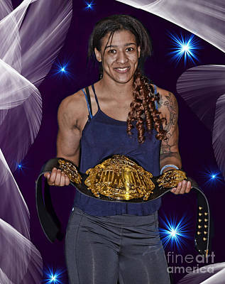 Photograph - Pro Wrestling Champion Nicole Savoy  by Jim Fitzpatrick