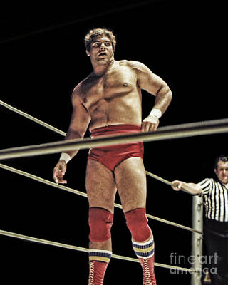 Photograph - Pro Wrestling Legend Don Muraco Eyeing His Opponent  by Jim Fitzpatrick