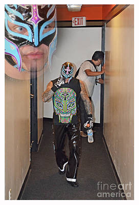 Digital Art - Pro Wrestling Legend Rey Mysterio On His Way To The Ring by Jim Fitzpatrick