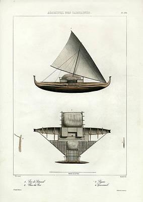 Proa Of Satawal Archipel Des Carolines Art Print