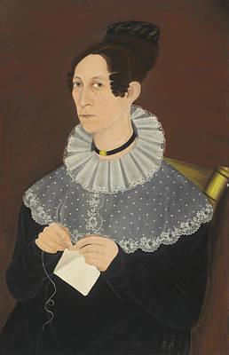 Probably Sarah Cook Arnold Knitting Art Print