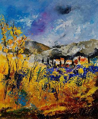 Poppies Artwork Painting - Procence 569011 by Pol Ledent