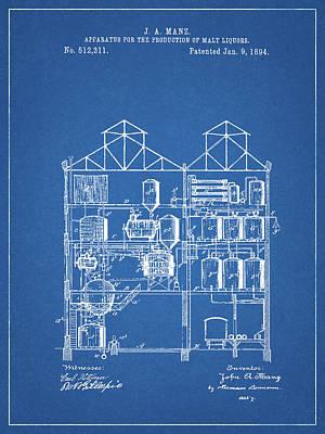 Beer Drawings - Process Of Making Malt Liquor by Dan Sproul