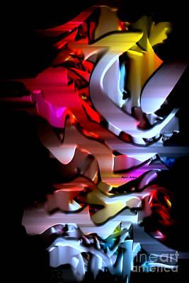 Digital Art - Process With Painting by Rafael Salazar