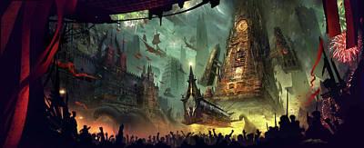 Fantasy Digital Art - Procession by Alex Ruiz