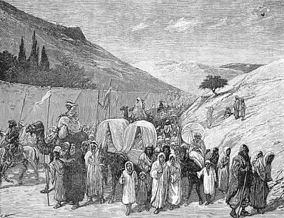 Jordan Drawing - Procession From Jerusalem To The Jordan by Henry A Harper