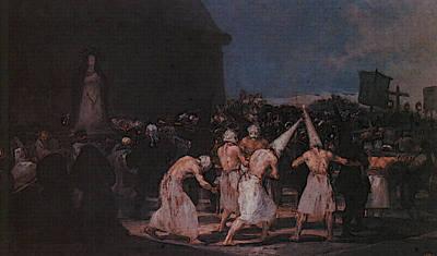 Procession Digital Art - Procession Of Flagellants On Good Friday  by Francisco de Goya