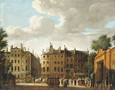 Painting - Procession Of The Baptism Of The King Of Rome. Paris by Hippolyte-Jean-Baptiste Garneray