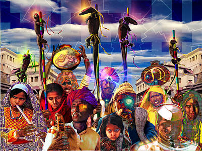 Collective Unconscious Digital Art - Procession Of The Cybernagas by Mark Myers
