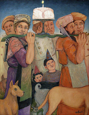 Humourous Painting - Procession by Paula Wittner