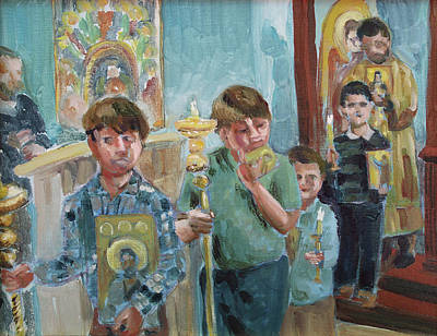 Painting - Procession With Icons by Laura Wilson