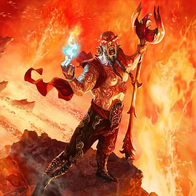 Volcano Digital Art - Prodigal Pyromancer by Ryan Barger