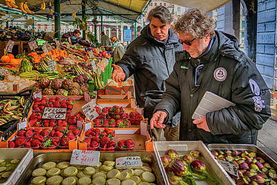 Photograph - Produce Market Venice Italy_dsc4495_03032017 by Greg Kluempers