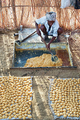 Photograph - Producing Jaggery by Tim Gainey