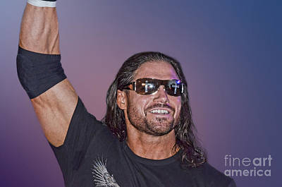Long Hair Digital Art - Professional Wrestler And Actor John Hennigan  by Jim Fitzpatrick