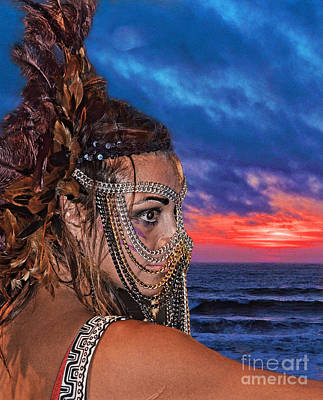 Photograph - Professional Wrestler Desi Derata At The End Of A Day by Jim Fitzpatrick