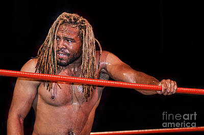 Photograph - Professional Wrestler Flyin Lion Marcus Lewis by Jim Fitzpatrick