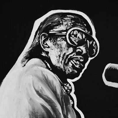 Piano Painting - Professor Longhair by Melissa O'Brien