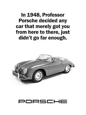 Classic Porsche 356 Photograph - Professor Porsche by Mark Rogan