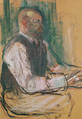 Desk Painting - Professor Robert Wurz  by Henri De Toulouse-Lautrec