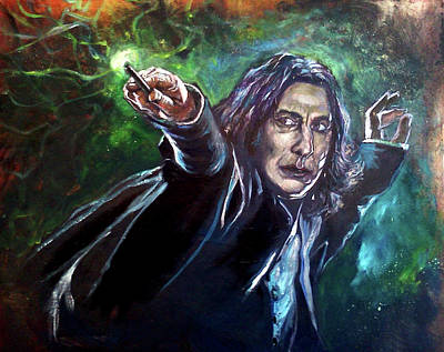 Severus Snape Painting - Professor Snape by Brian Child