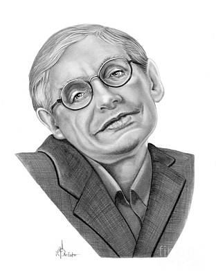 Stephen Hawking Drawing - Professor Stephen Hawkings by Murphy Elliott