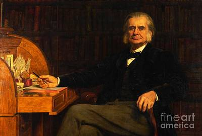 Collier Painting - Professor Thomas Henry Huxley by MotionAge Designs