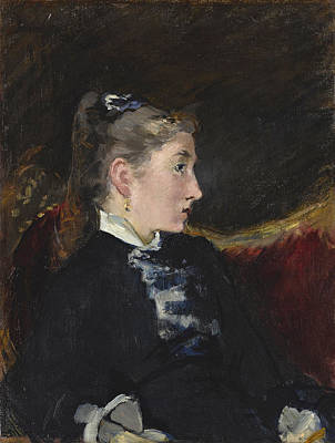 Painting - Profil De Jeune Fille by Edouard Manet