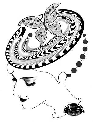Digital Art - Profile by Afrodita Ellerman