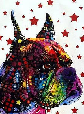 Boxer Painting - Profile Boxer by Dean Russo