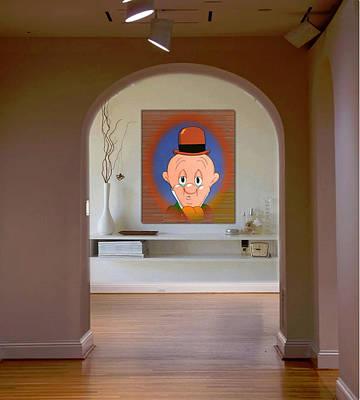 Digital Art - Profile Elmer Fudd by Mario Carini