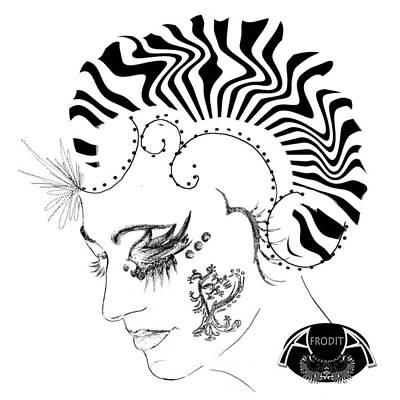 Digital Art - Profile II by Afrodita Ellerman