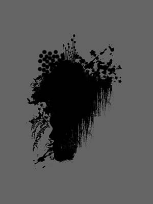 Exploding Head Digital Art - Profile In Bloom by Maria Padgett
