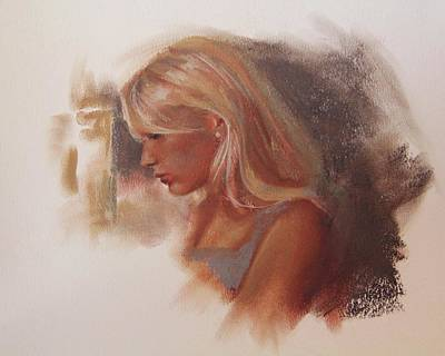 Pastel - Profile In Pastel by Emily Olson