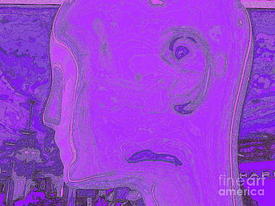 Digital Art - Profile In Purple by Ed Weidman