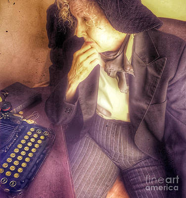 Thoughts Digital Art - Profile In Writing by Steven Digman