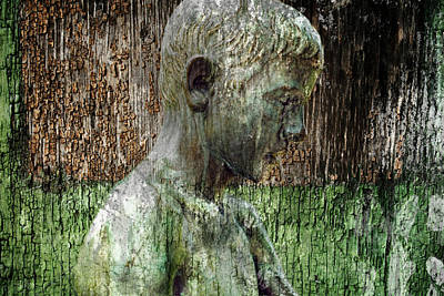 Mixed Media - Profile Of A Boy by Ally White