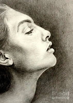 Drawing - Profile Of A Girl by Georgia's Art Brush