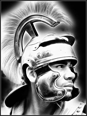 Painting - Profile Of A Trojan Hero by Jon Volden