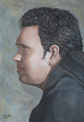 Painting - Profile Of Man by Masami Iida