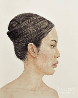 Drawing - Profile Portrait Of A Chinese Beauty by Jim Fitzpatrick
