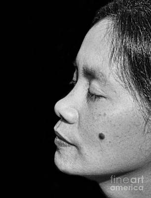 Photograph - Profile Portrait Of A Filipina Beauty With A Mole On Her Cheek II by Jim Fitzpatrick