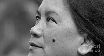 Photograph - Profile Portrait Of A Filipina Beauty With A Mole On Her Cheek IIi by Jim Fitzpatrick