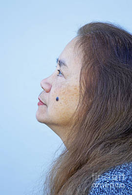 Photograph - Profile Portrait Of A Lovely Filipina With A Mole On Her Cheek   by Jim Fitzpatrick