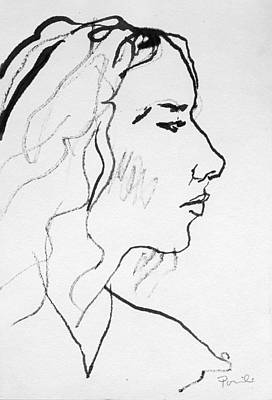 Painting - Profile Sketch by Charles Pompilius