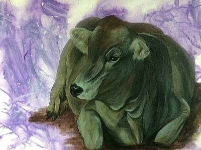 Brown Swiss Painting - Profit by Darlene Pyle