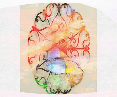 Digital Art - Profound Thought Worought Iron by Catherine Lott