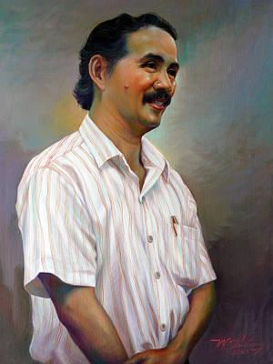 Painting - Prof.panya Petchoo by Chonkhet Phanwichien